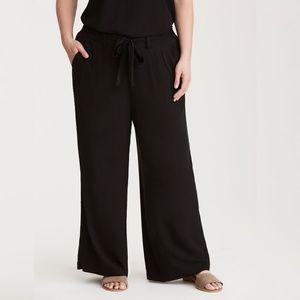 torrid Pants - NWT TORRID Tie Front Wide Leg Challis Pants